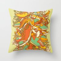shoe Throw Pillows featuring If the Shoe Fits by Alvaro Arteaga