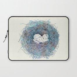 Painted Bird Nest Eggs Blue Watercolor Laptop Sleeve