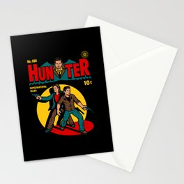 Hunter Comic Stationery Cards