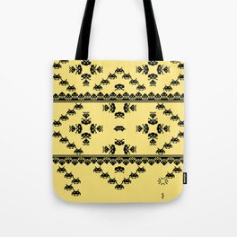 Invasion Pattern Tote Bag
