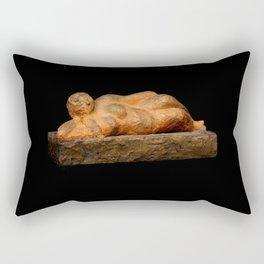 Earth Woman (Sculpture by Eva Hoedeman) Rectangular Pillow
