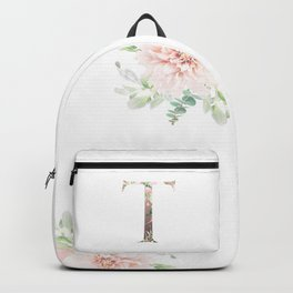 T - Floral Monogram Collection Backpack