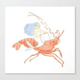 The Magnificent Shrimp Rider Canvas Print
