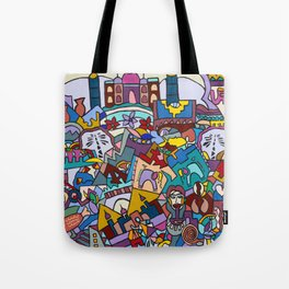 Hello-Goodbye-Peace Tote Bag