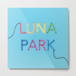 LUNA PARK- multi strong Metal Print