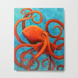 Holding On - Octopus Metal Print