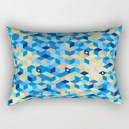 Mosaic in blue Rectangular Pillow