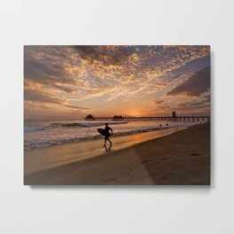 Surf City Sunsets   9/10/15   Huntington Beach California  Metal Print