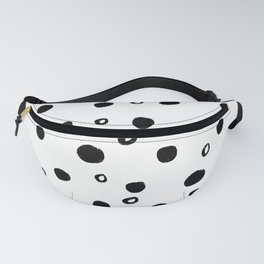 modern black and white simple minimalist polka dots pattern Fanny Pack