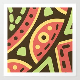 Abstract Sweets Composition Pattern Art Print