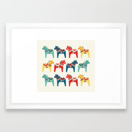 Swedish Horses Framed Art Print
