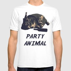 Party Animal Mens Fitted Tee White MEDIUM
