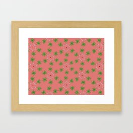 cute floral pattern Framed Art Print