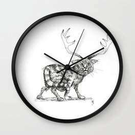Catalope: The Horned Cat Wall Clock