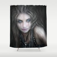 into the wild Shower Curtains featuring Wild by Justin Gedak