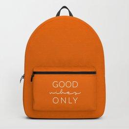 Good Vibes Only Orange Backpack