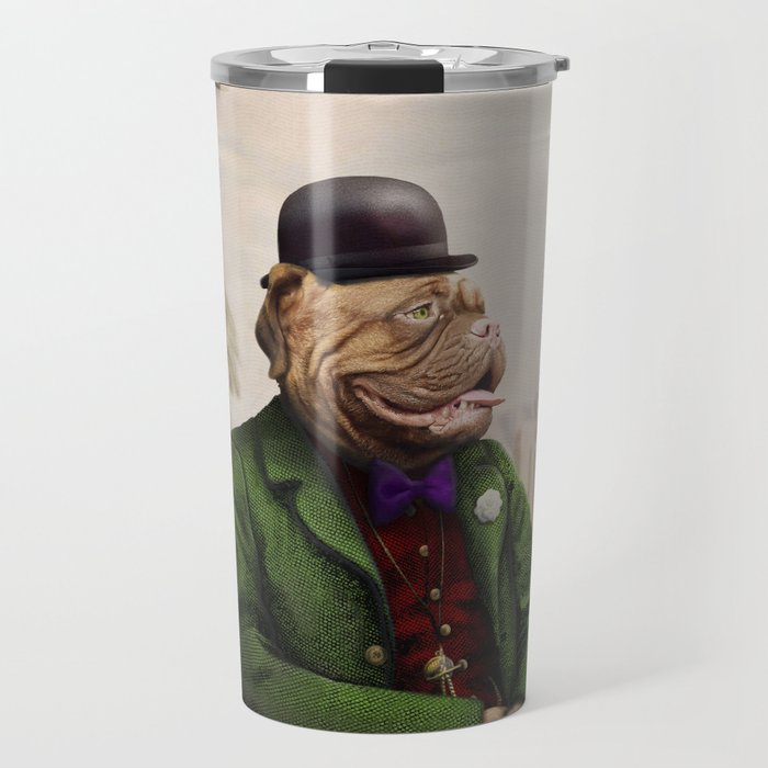 Remy Rottweiler Amid the Ancient Ruins Travel Mug