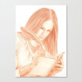 Dear Diary Canvas Print