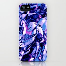 Fluid Painting 3 (Blue Version) iPhone Case