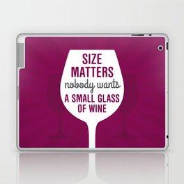 Wine Size Matters Laptop & iPad Skin