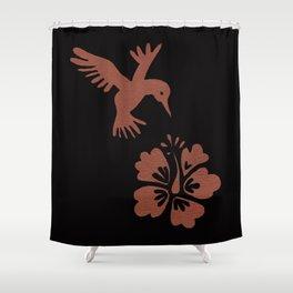 Rose Gold Hummingbird Shower Curtain