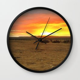 Sun Rise in the Negev Wall Clock