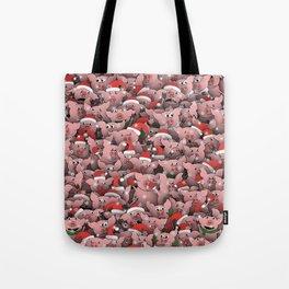 Christmas pigs Tote Bag