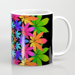 Cannabis Indica Leaf Mandala Coffee Mug