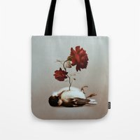 soul Tote Bags featuring Soul by Bente Schlick