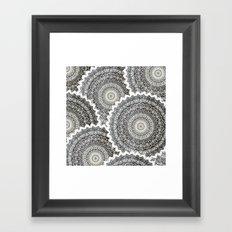 WINTER MANDALAS Framed Art Print