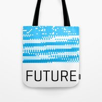 odd future Tote Bags featuring Future by Blank & Vøid