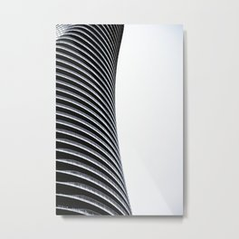 Abstract Architecture Curves Metal Print