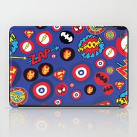 super hero iPad Cases featuring Movie Super Hero logos by Nick's Emporium Gallery