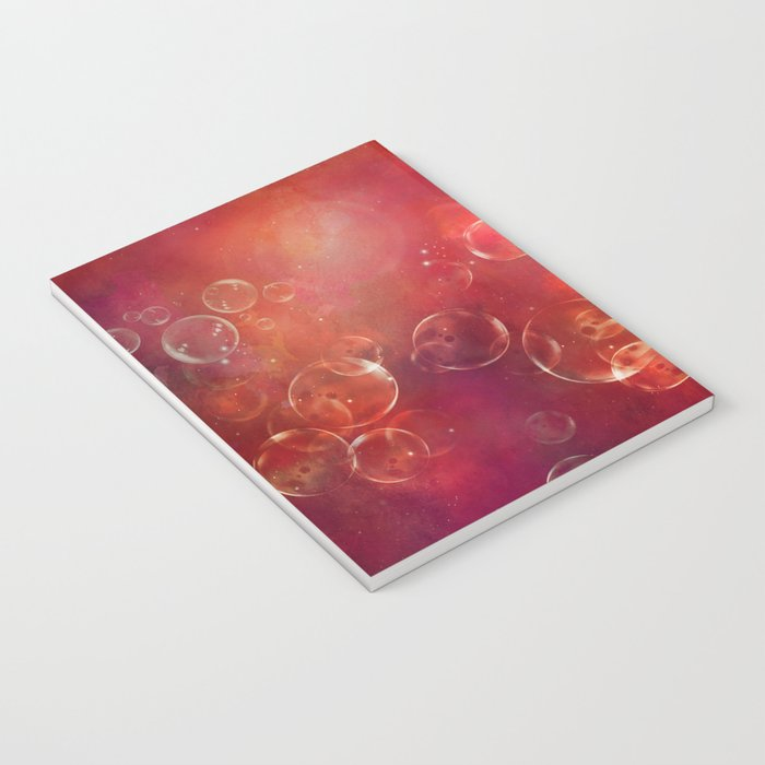 Into the red space surreal bubbles Notebook