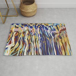 Music Jazz Abstract pattern wave Rug