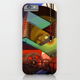 Like as Jule Verne - Humans future clock iPhone Case
