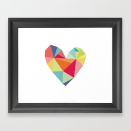 Geometric heart print Framed Art Print
