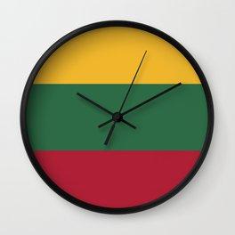 Lithuania flag emblem Wall Clock