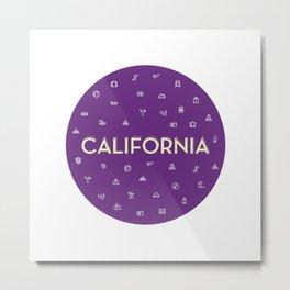 069 travel to California Metal Print