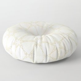 Celestial Pearl Gilded Stars Floor Pillow