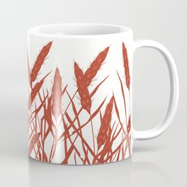 Stylized wheat ears on a white background. Coffee Mug