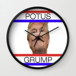 POTUS GRUMP - TRUMP Wall Clock
