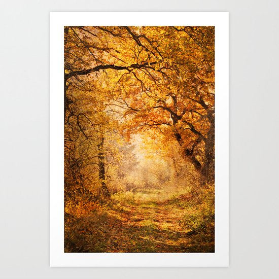 autumnal walk Art Print