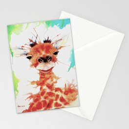 Grinning Giraffe Stationery Cards