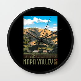 Napa Valley - Regusci Vineyards Wall Clock