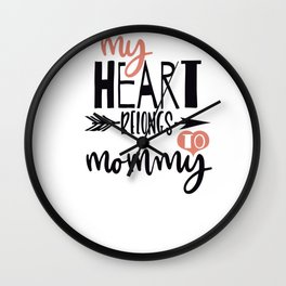 Funny Valentines Day Shirt Wall Clock
