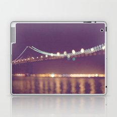 Let's go for a walk. San Francisco Bay bridge night photograph. Laptop & iPad Skin