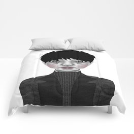 003 Turtleneck and Faux Leather Jacket Comforters