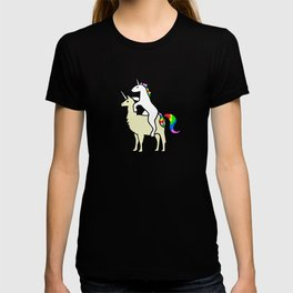 Unicorn Riding Llamacorn T-shirt