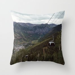 Telluride gondolas Throw Pillow